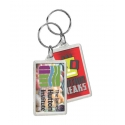 Rectangle Crystal Keytag