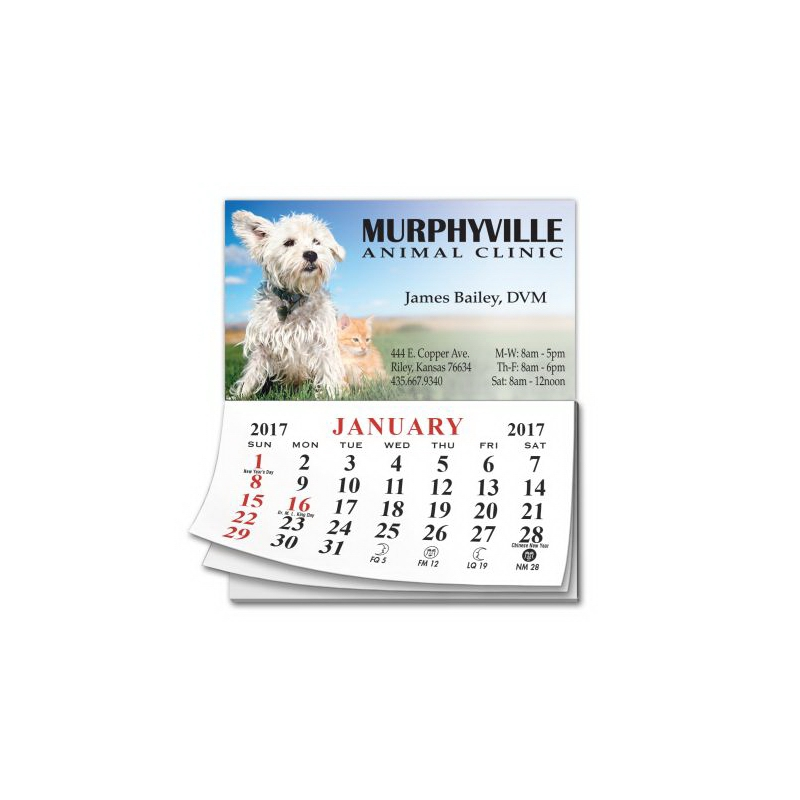 Calendar Pad Business Card Magnet | Magnet Calendar | AListPromos.com